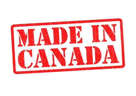 canada stamp: MADE IN CANADA Rubber Stamp over a white background.