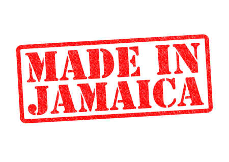 MADE IN JAMAICA Rubber Stamp over a white background. photo