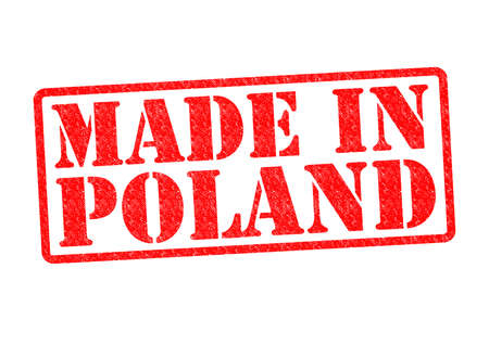 MADE IN POLAND Rubber Stamp over a white background. photo