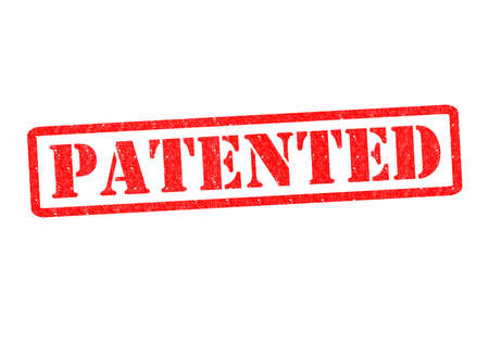 safeguarded: PATENTED Rubber Stamp over a white background.