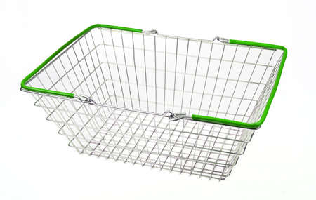 consumable: A shopping basket on a white background.