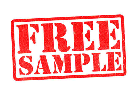 free sample: FREE SAMPLE Rubber Stamp over a white background.