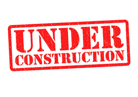 UNDER CONSTRUCTION Rubber Stamp over a white background. photo
