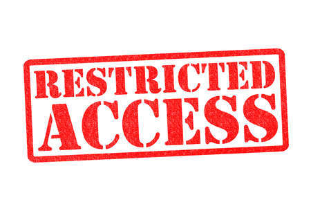 trespass: RESTRICTED ACCESS Rubber Stamp over a white background. Stock Photo