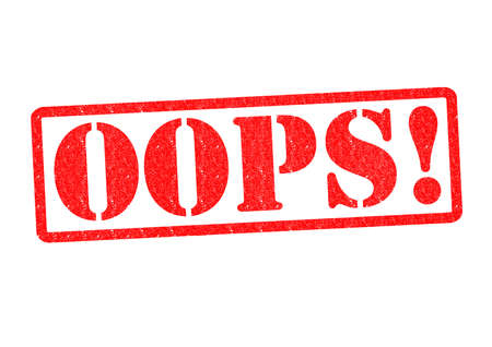 wrongdoing: OOPS! Rubber Stamp over a white background.