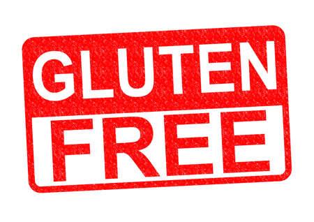 gluten free: GLUTEN FREE Rubber Stamp over a white background. Stock Photo