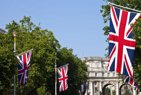 Admiralty Arch and Union Flags down The Mall in London