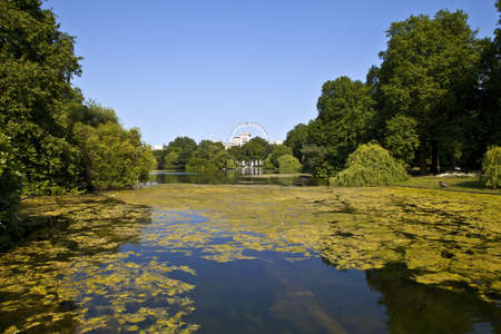 st james s: The beautiful view from St  James s Park in London Stock Photo