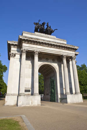 The magnificent Wellington Arch in London