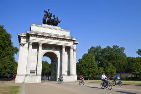 The magnificent Wellington Arch in London.