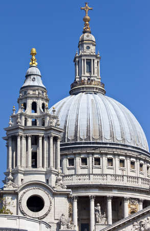 The dome and one of the towers of St  Pauls Cathedral photo