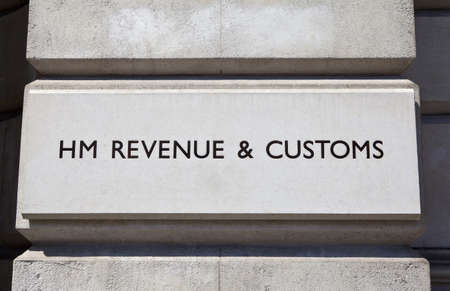 HM Revenue and Customs Schild an einem Gebäude Standard-Bild - 21520028