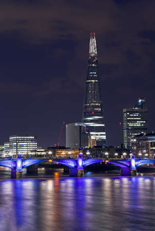 The Shard and Southwark Bridge in London  photo