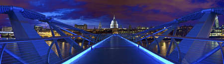 St  Pauls Cathedral and the Millennium Bridge photo