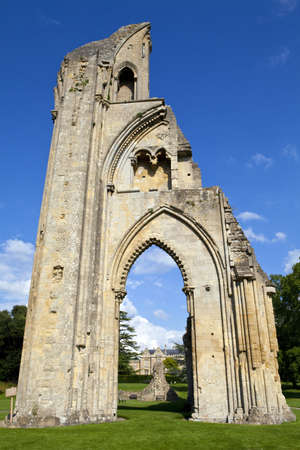 somerset: The historic ruins of Glastonbury Abbey in Somerset, England