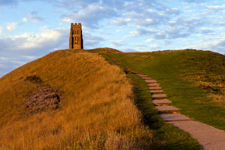 The historic Glastonbury Tor in Somerset, England  photo