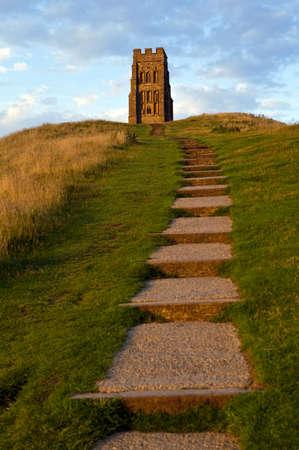 somerset: The historic Glastonbury Tor in Somerset, England