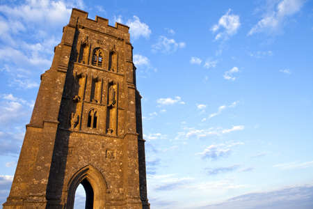 St  Michaels Tower on Glastonbury Tor in Somerset, England  photo