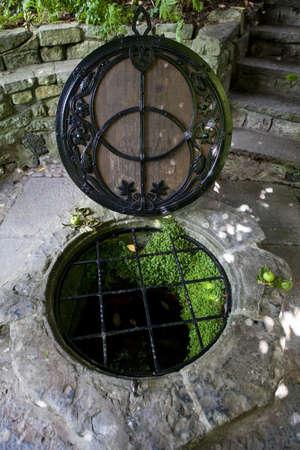 De historische Chalice Well in Glastonbury