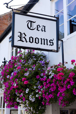 english village: Tea Rooms in a rural English Village