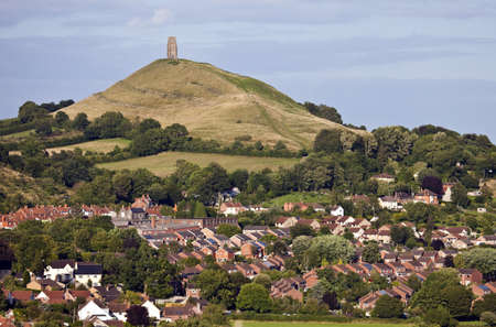 The historic Glastonbury Tor in Somerset, England
