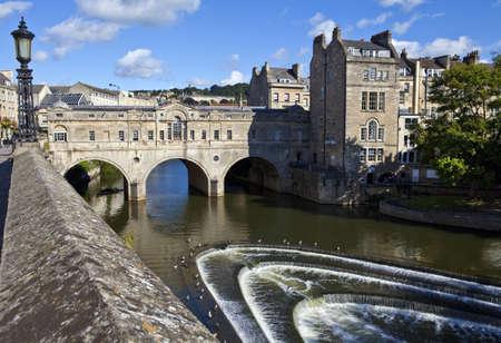 The famous Pulteney Bridge in Bath  photo
