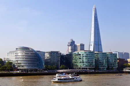 City Hall, The Shard and the River Thames in London  photo