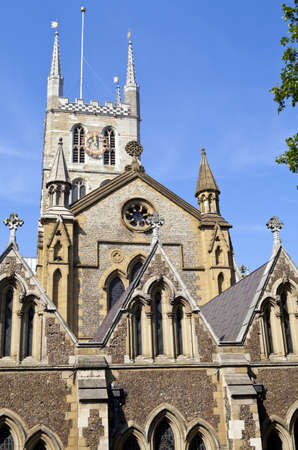 The historic Southwark Cathedral in London  photo