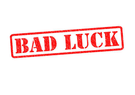 unfortunate: BAD LUCK Rubber Stamp over a white background. Stock Photo