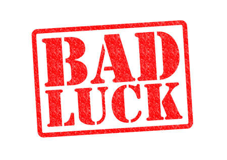 bad luck: BAD LUCK Rubber Stamp over a white background. Stock Photo