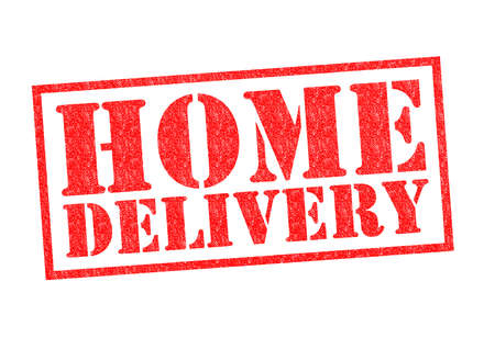 HOME DELIVERY Rubber Stamp over a white background. photo