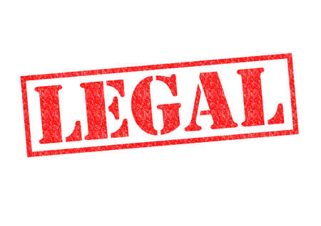 lawful: LEGAL Rubber Stamp over a white background.