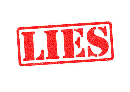 LIES Rubber Stamp over a white background. photo
