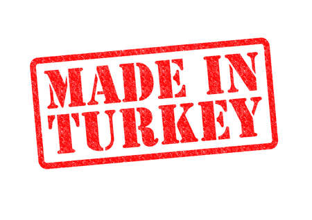 invented: MADE IN TURKEY Rubber Stamp over a white background.