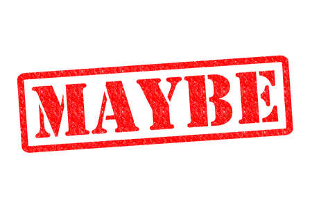 maybe: MAYBE Rubber Stamp over a white background.