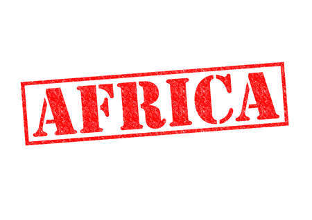 AFRICA Rubber Stamp over a white background. photo