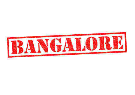 BANGALORE Rubber Stamp over a white background. photo