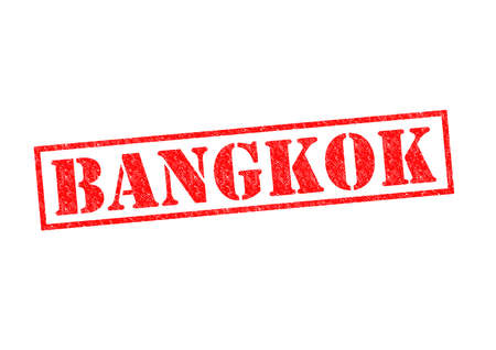 BANGKOK Rubber Stamp over a white background. photo