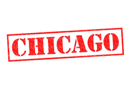 CHICAGO Rubber Stamp over a white background. photo