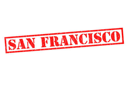 SAN FRANCISCO Rubber Stamp over a white background. photo