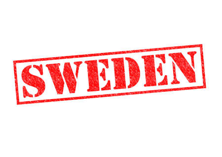 SWEDEN Rubber Stamp over a white background. photo