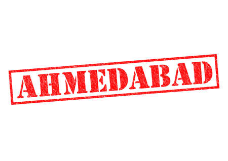 AHMEDABAD Rubber Stamp over a white background. photo