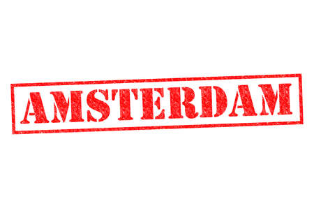 AMSTERDAM Rubber Stamp over a white background. photo