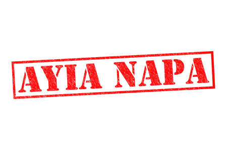 napa: AYIA NAPA Rubber Stamp over a white background.
