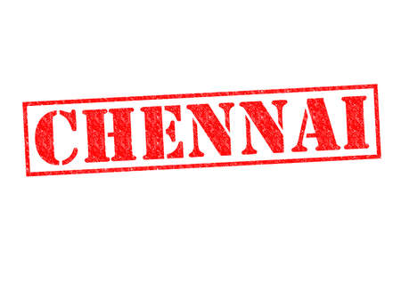 CHENNAI Rubber Stamp over a white background. photo