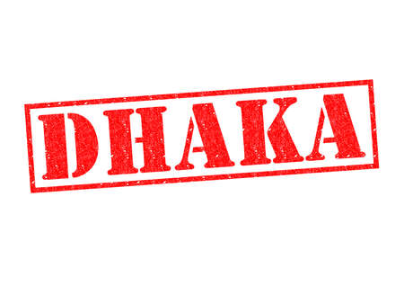 DHAKA Rubber Stamp over a white background. photo