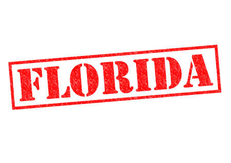 sunshine state: FLORIDA Rubber Stamp over a white background.