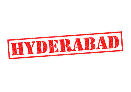 hyderabad: HYDERABAD Rubber Stamp over a white background.