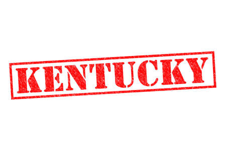 KENTUCKY Rubber Stamp over a white background. photo