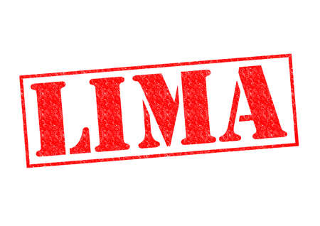 LIMA Rubber Stamp over a white background. photo